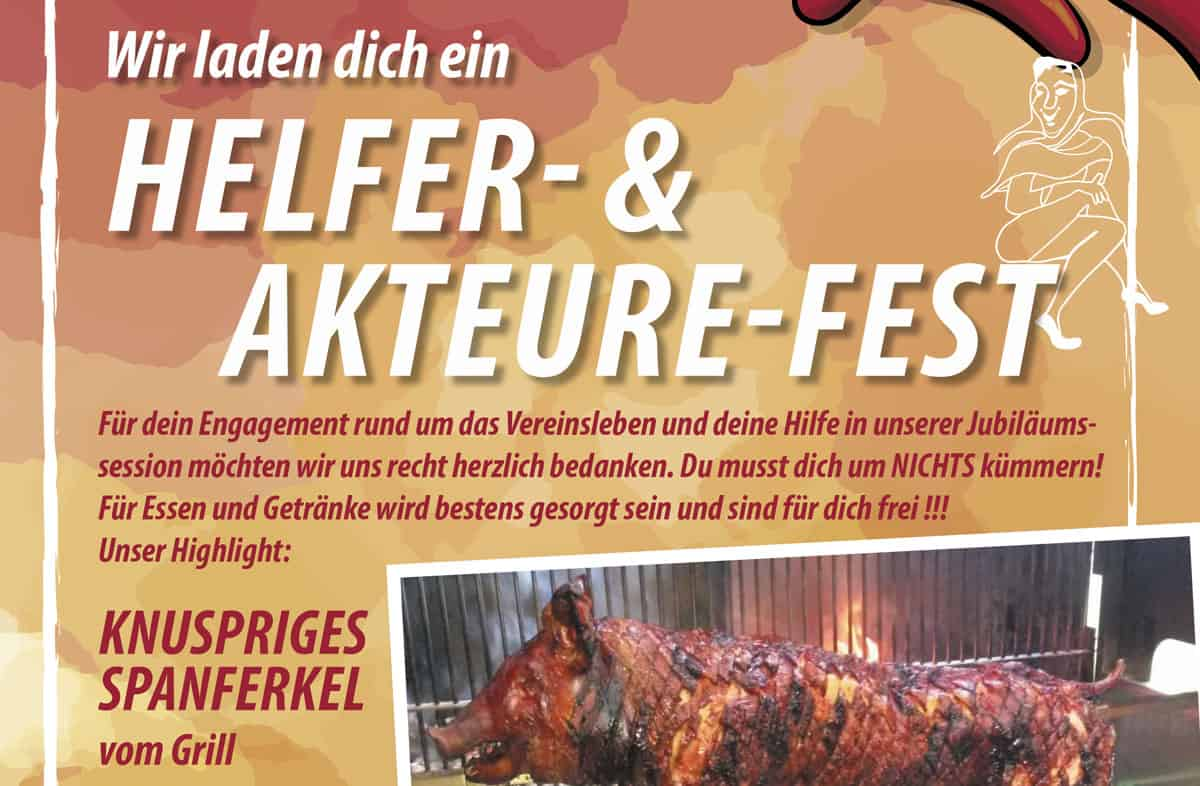 Karnevalverein Eulenspiegel helferfest
