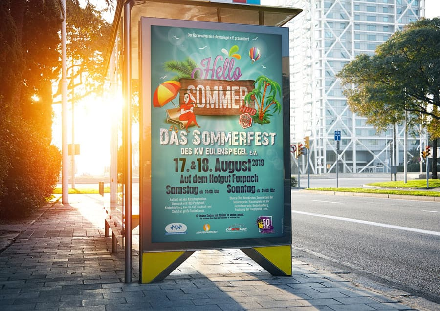 Plakat zum Sommerfest 2019