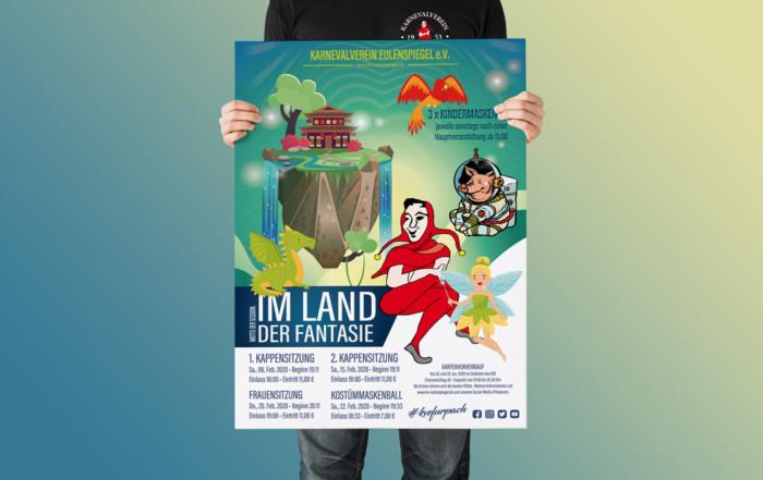 Karnevalverein Eulenspiegel kve plakat in hand