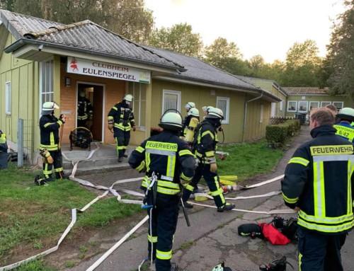 Branschutzübung der Freiwilligen Feuerwehr in unserem Clubheim