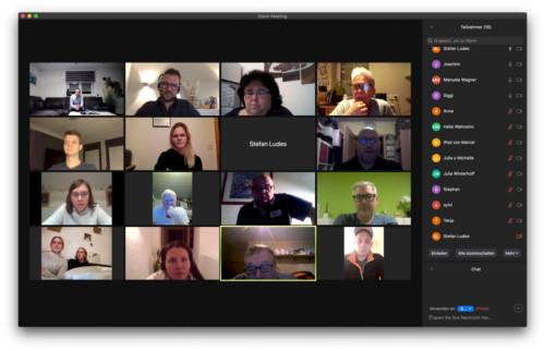 Der Vorstand in einer digitalen Vorstandssitzung