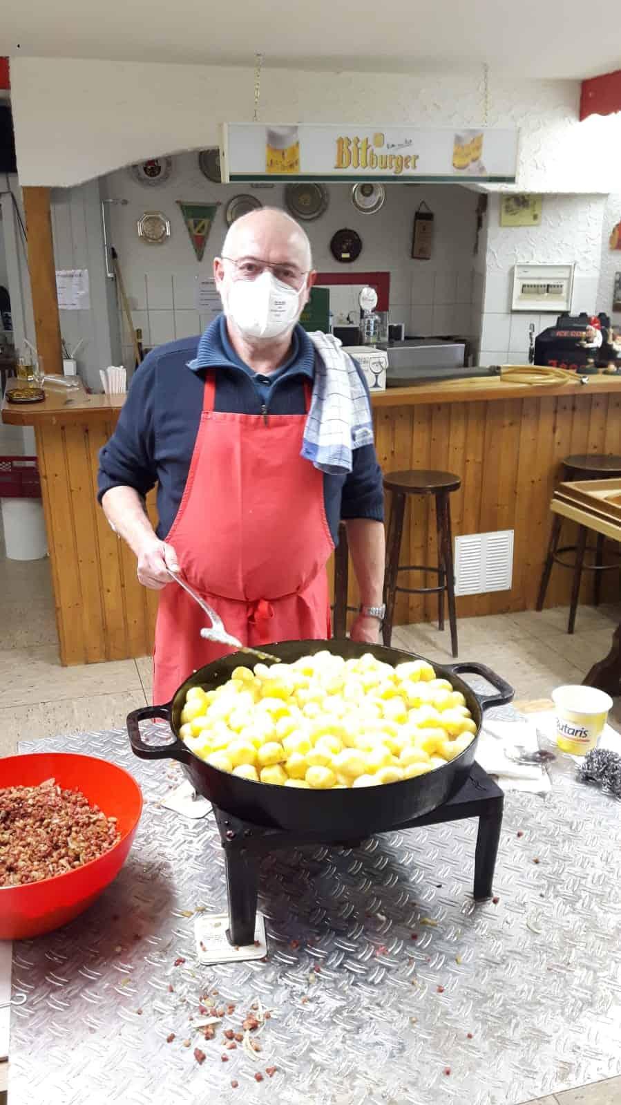 Kochen, Heringsessen, Kartoffeln, KVE